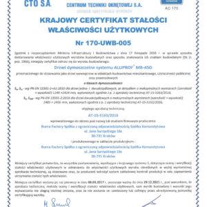 CERTYFIKAT CTO_170-UWB-005
