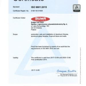 BUMA FACTORY_17_RA_certyfikat EN