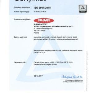 BUMA FACTORY_17_RA_certyfikat PL