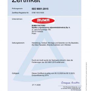 BUMA FACTORY_20_RA_certyfikat DE