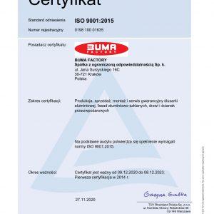 BUMA FACTORY_20_RA_certyfikat PL